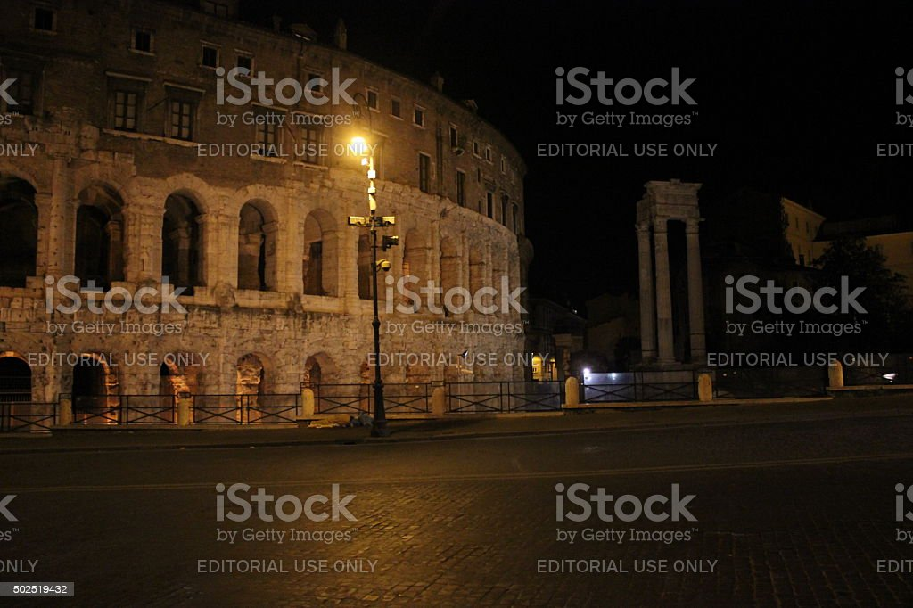 The Theatre of Marcellus stock photo