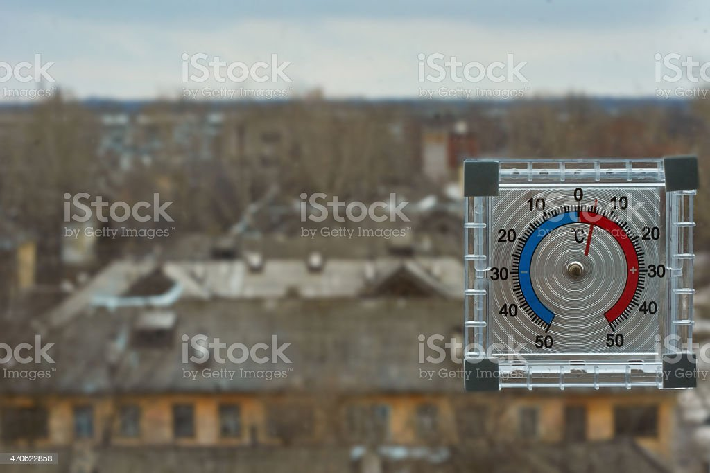 The thermometer. stock photo
