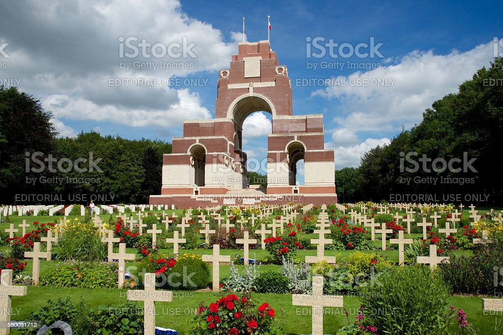 The Thiepval Memorial to the Missing of the Somme stock photo