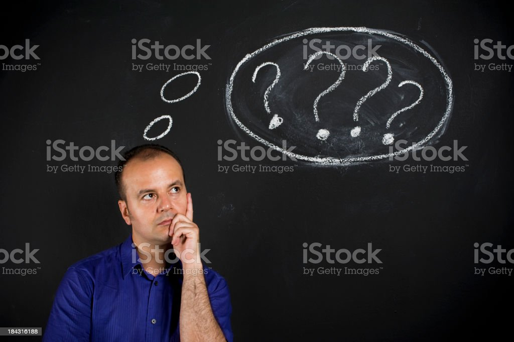 The Thinker of Nothing royalty-free stock photo