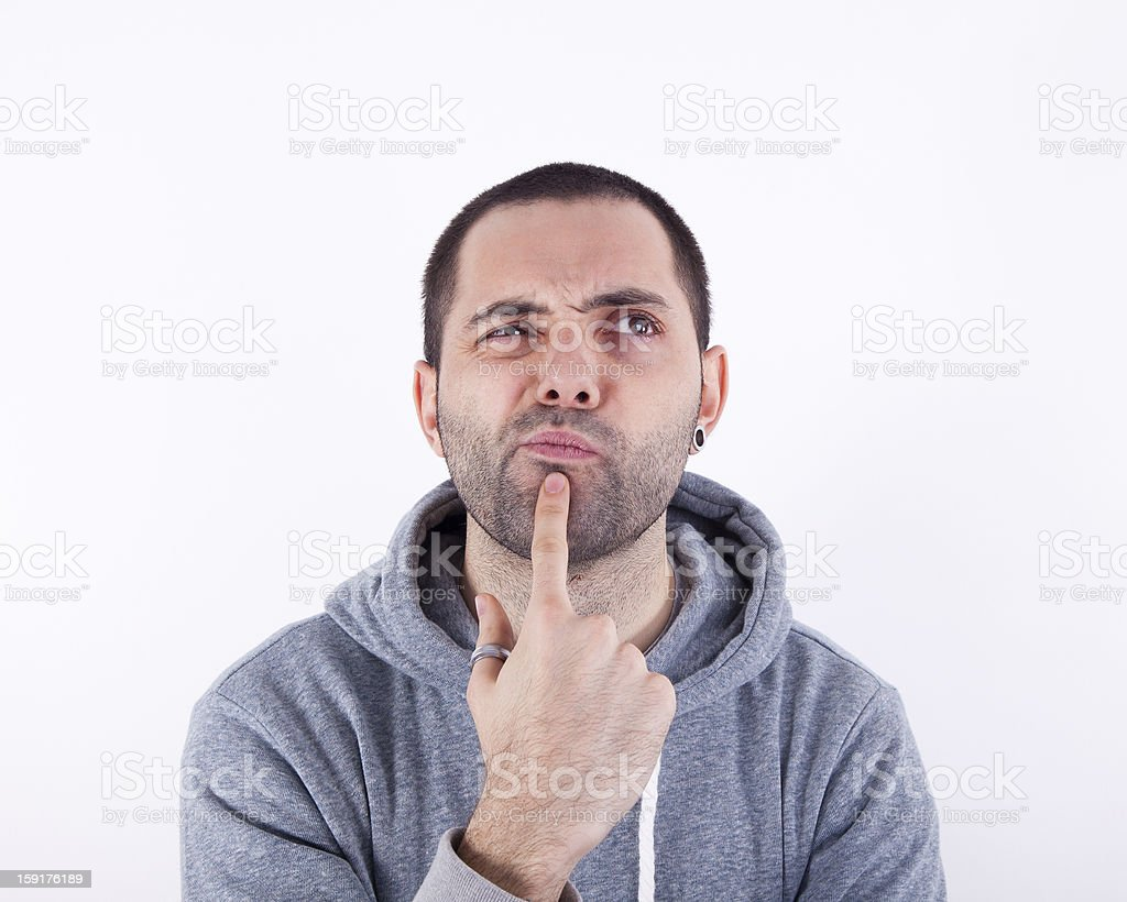 The thinker royalty-free stock photo