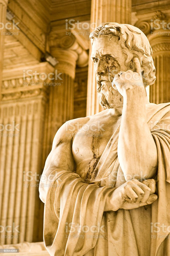 The thinker stock photo