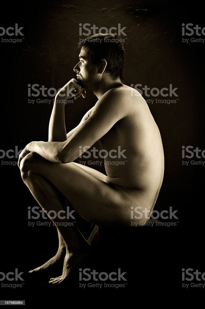 The Thinker-Auguste Rodin royalty-free stock photo