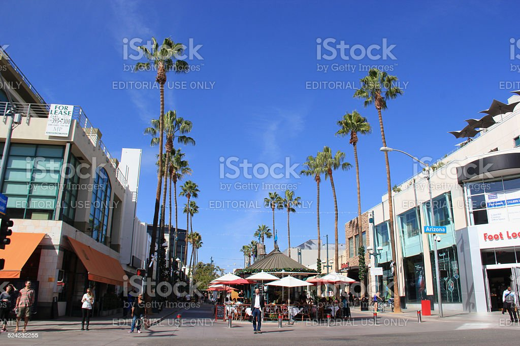 The Third Street Promenade of Santa Monica stock photo