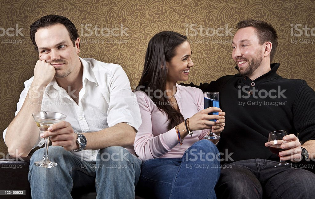 The third wheel stock photo