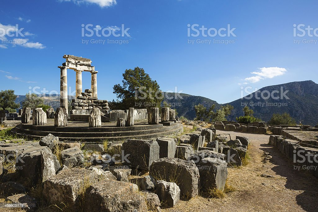 The Tholos, Delphi, Greece stock photo