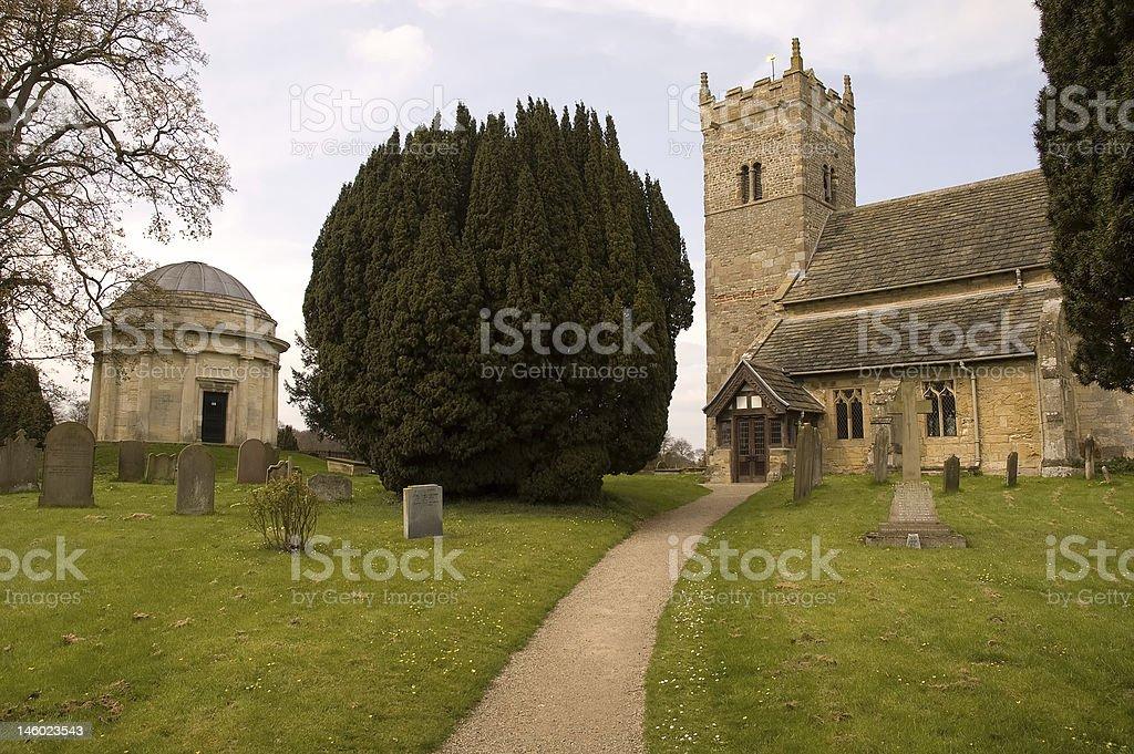 The Thompson Mausoleum, Little Ouseburn stock photo
