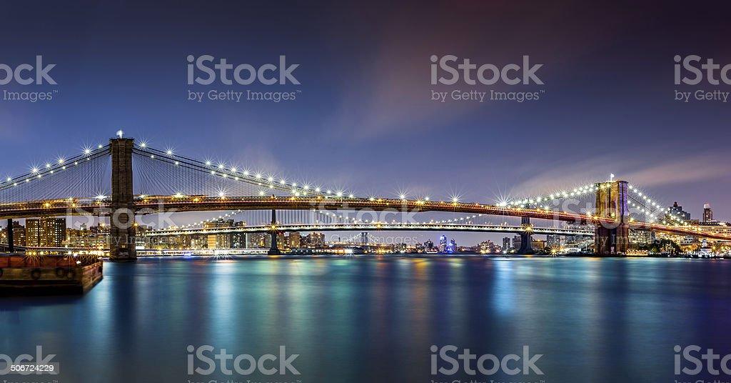 The Three Bridges stock photo