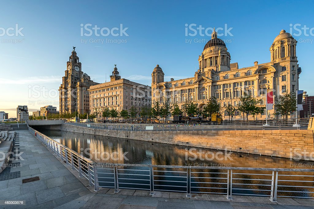 The Three Graces in Liverpool stock photo