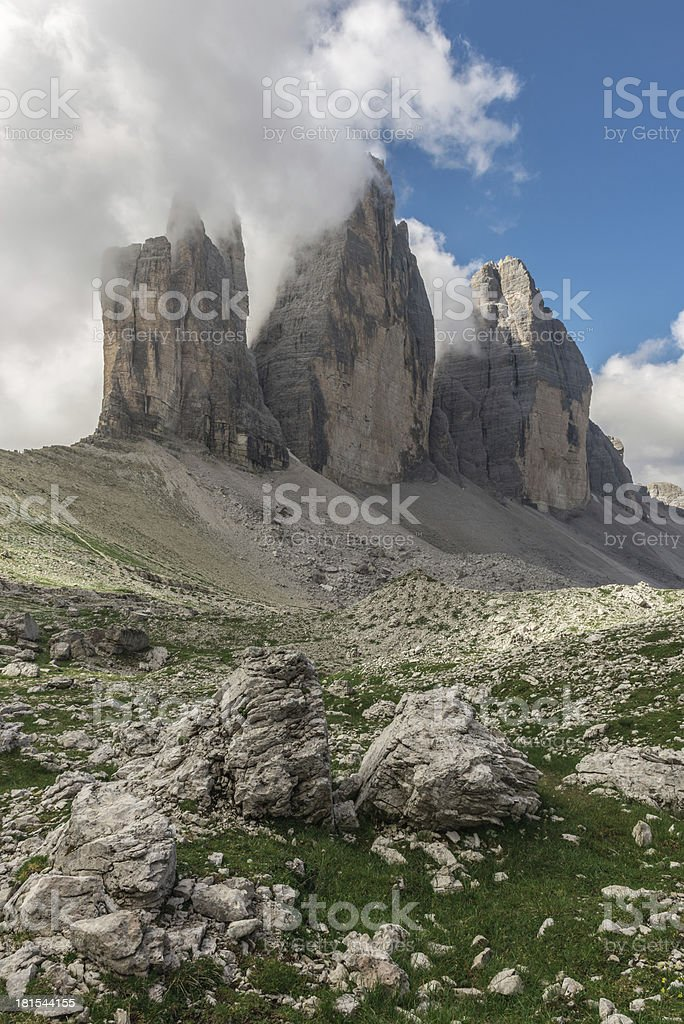 The Three Lavaredo peaks royalty-free stock photo