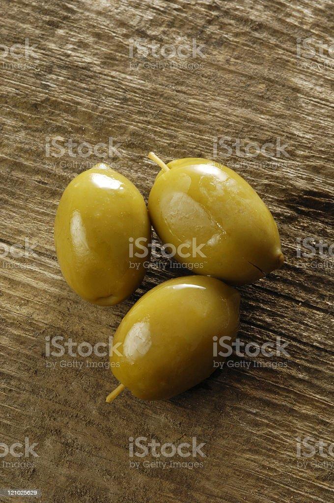 The three olives royalty-free stock photo