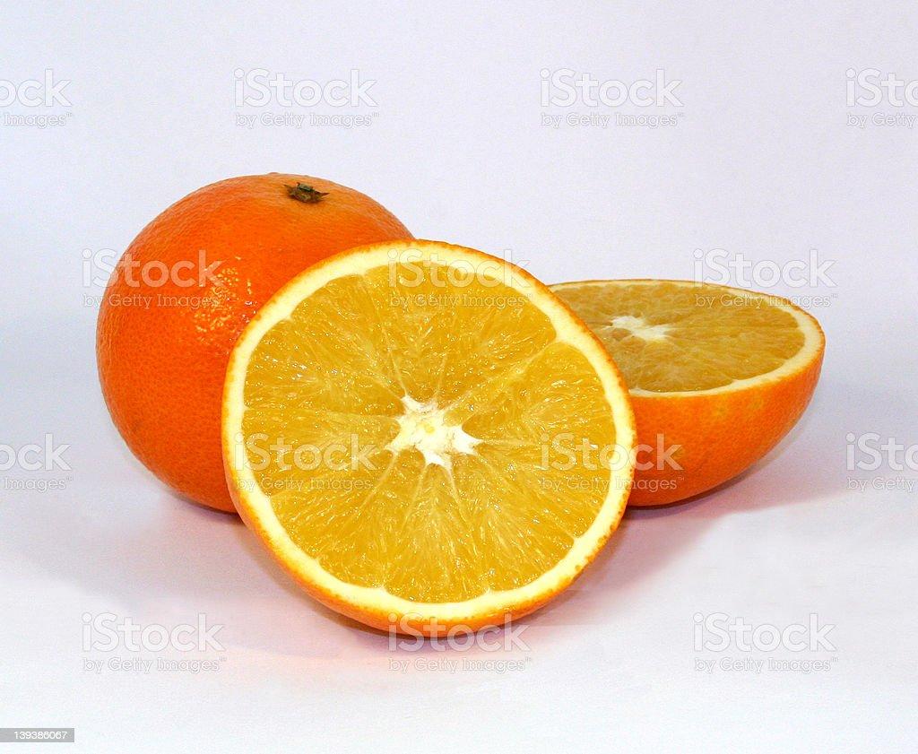 The three orange stock photo