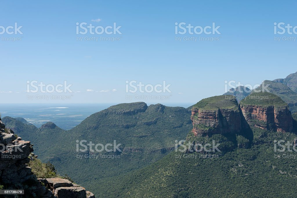 the three rondavels in africa stock photo