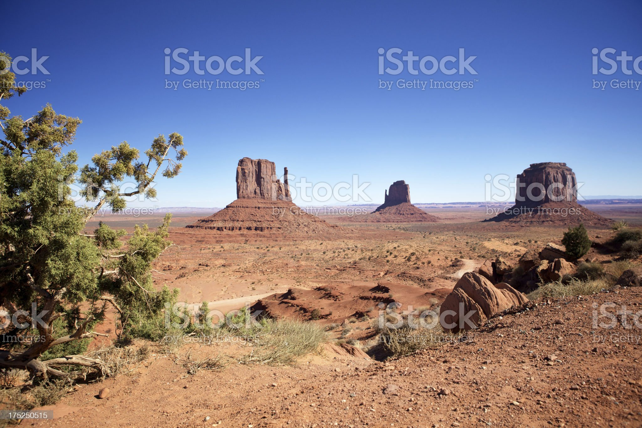 The Three Sisters at Monument valley royalty-free stock photo