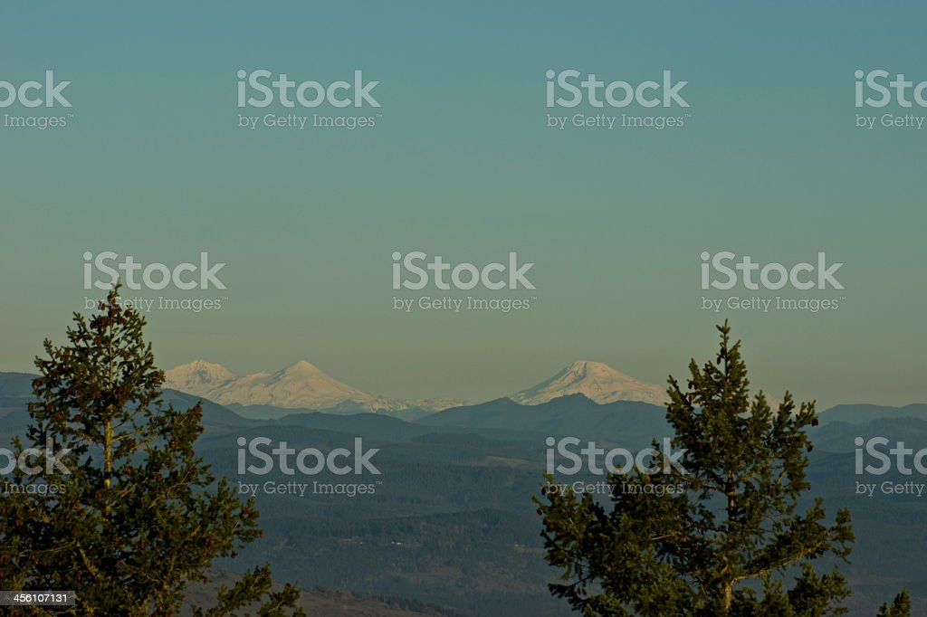 The Three Sisters From Eugene stock photo