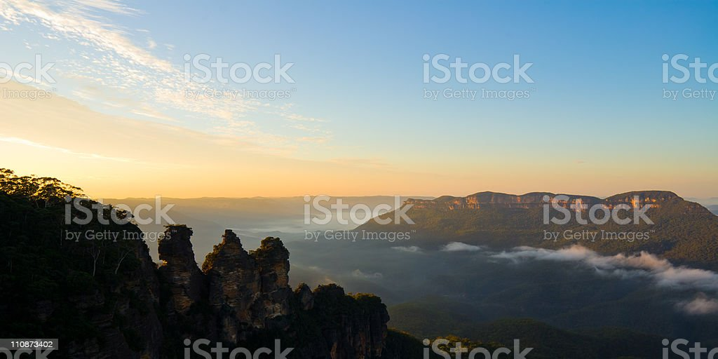 The Three Sisters in Silhouette royalty-free stock photo