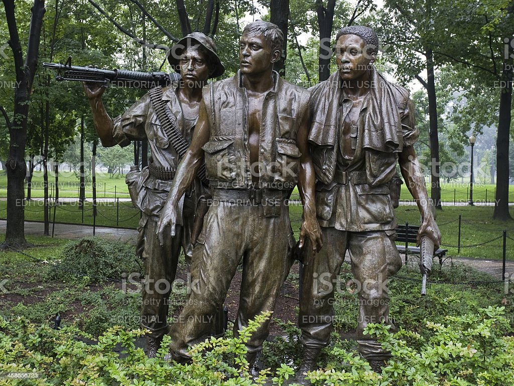 'The Three Soldiers', Vietnam Veterans Memorial, Washington DC stock photo