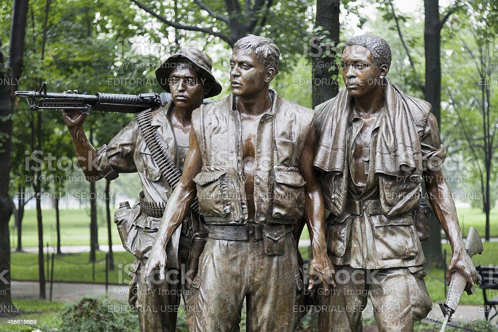 'The Three Soldiers', Vietnam Veterans Memorial, Washington DC (XXXL) stock photo