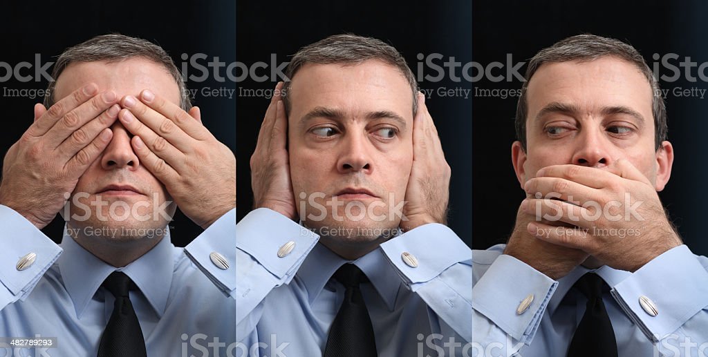 The Three Wise Businessmen stock photo
