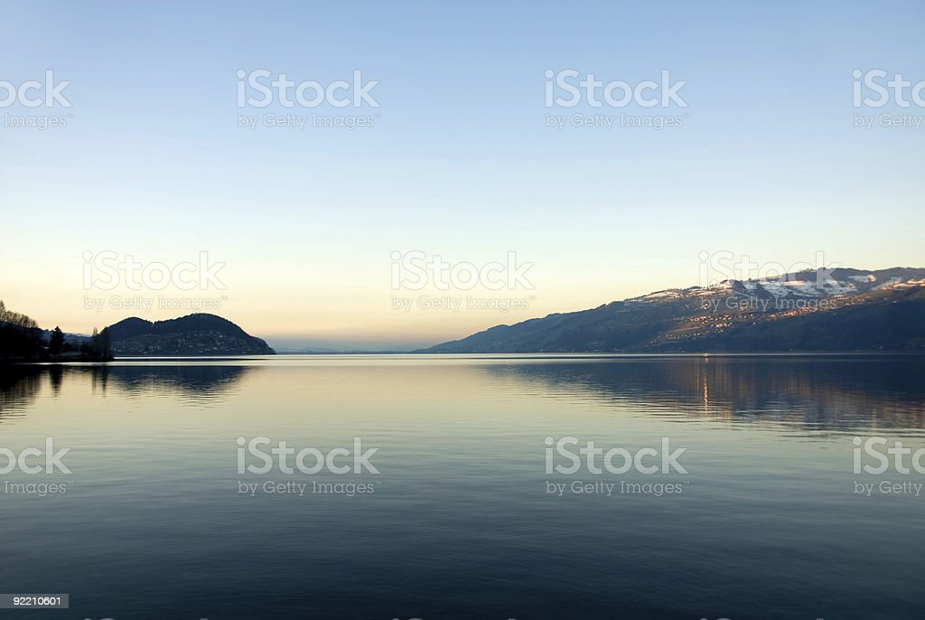 The Thuner See - Interlarken royalty-free stock photo