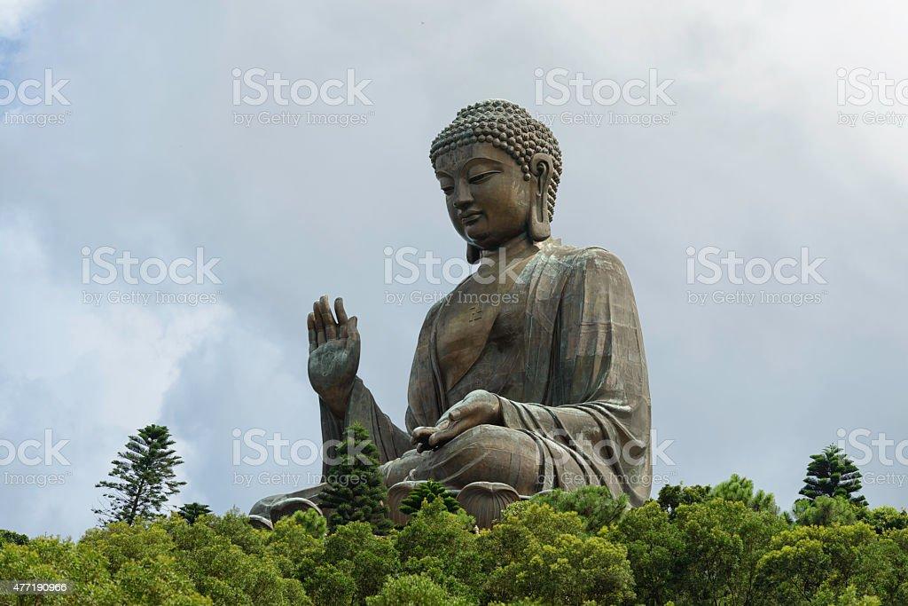 The Tian Tan Buddha in Hong Kong royalty-free stock photo