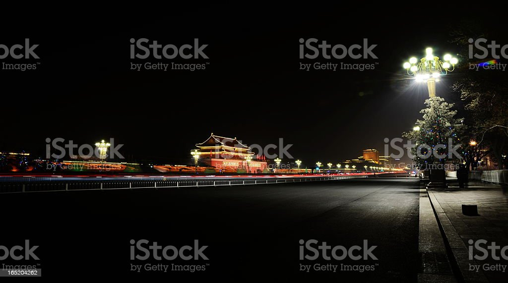 The Tiananmen on Chang'an Avenue royalty-free stock photo