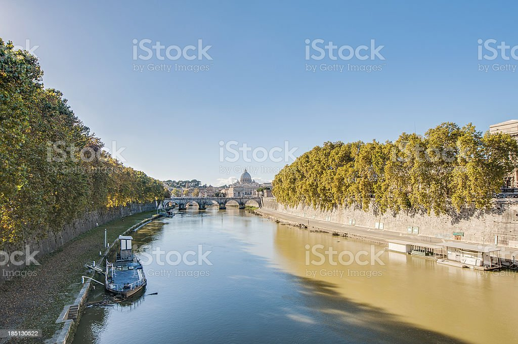 The Tiber river, passing through Rome. royalty-free stock photo