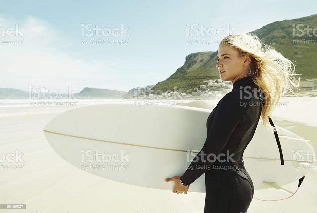The tide's coming in stock photo