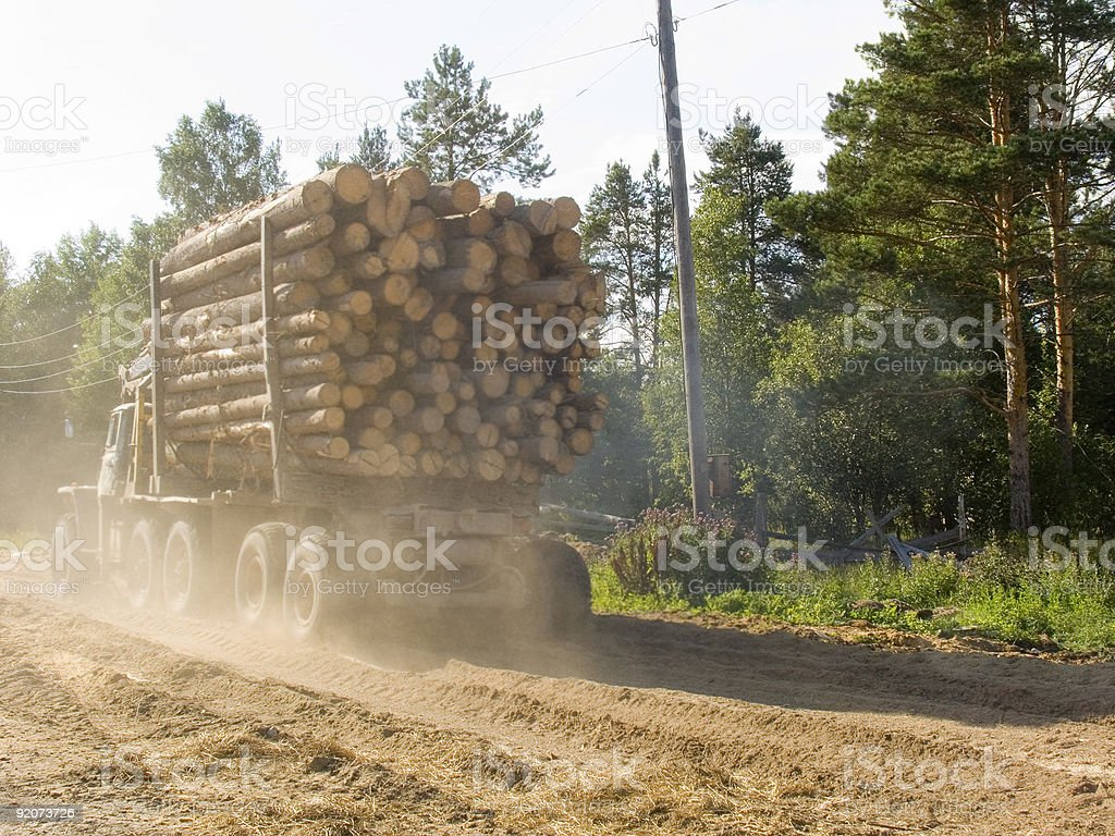 The timber carrying vessel royalty-free stock photo