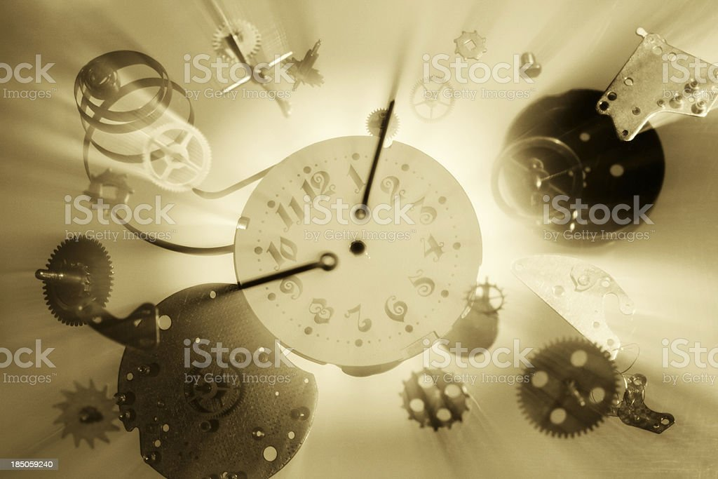 The time machine royalty-free stock photo