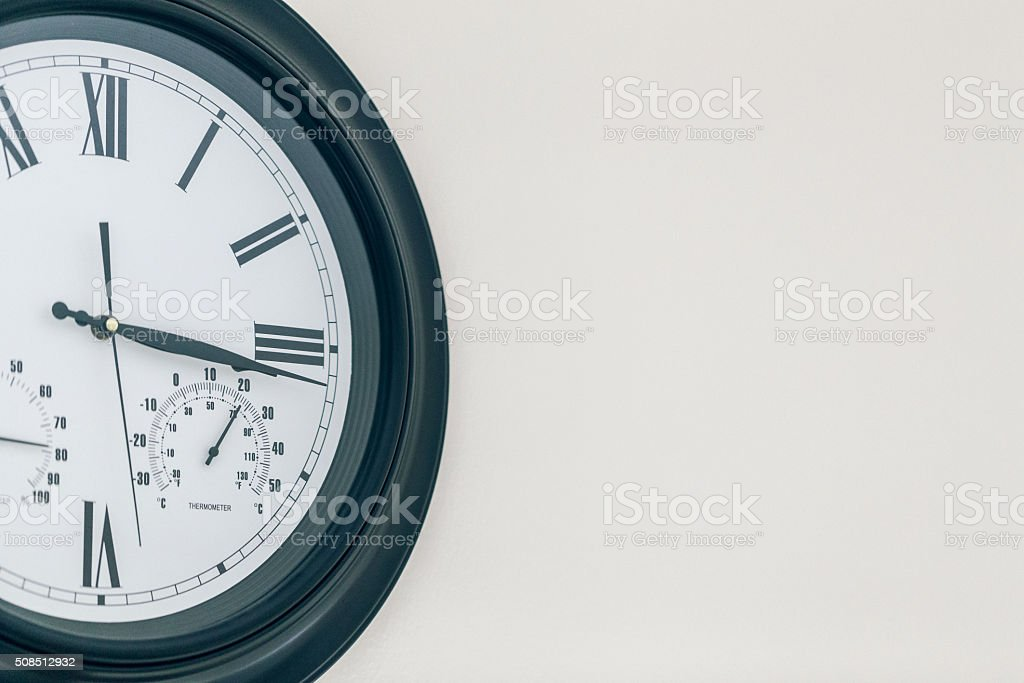 The Time Now is stock photo