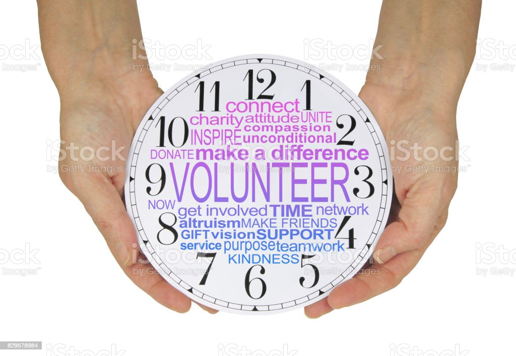 The Time to Volunteer is NOW stock photo