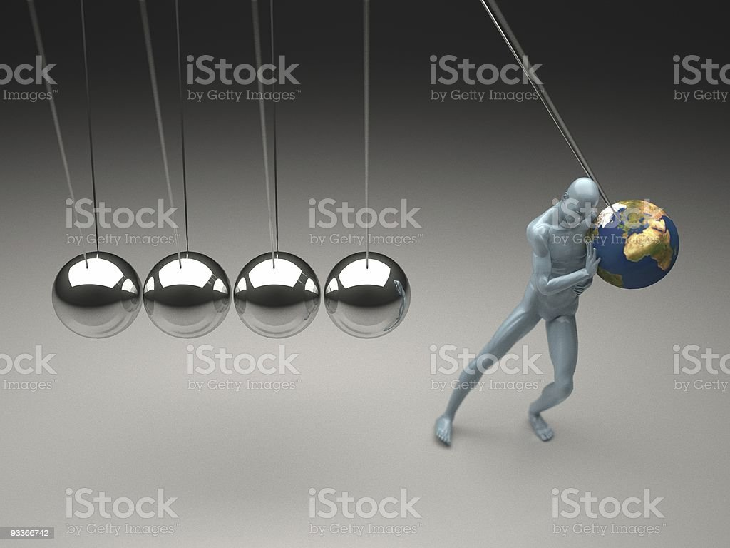 The time-cradle - Global Warming stock photo