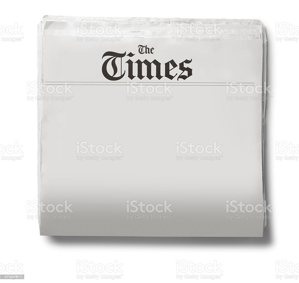 The Times royalty-free stock photo