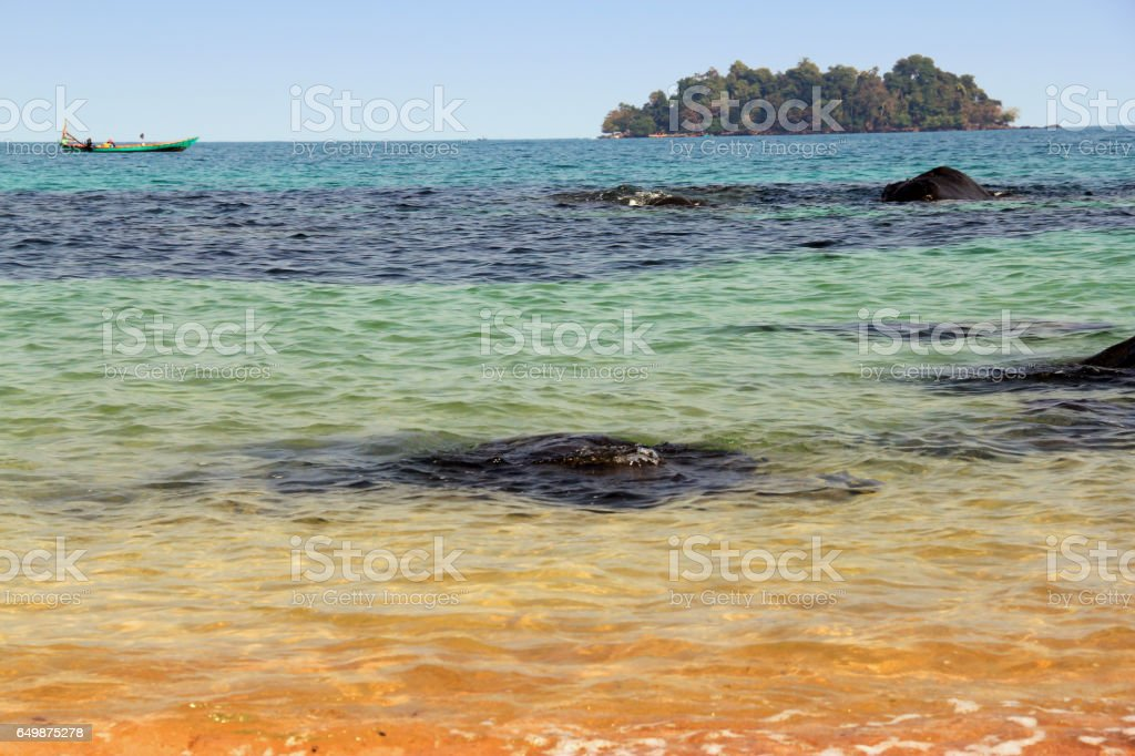 The tints of the ocean stock photo
