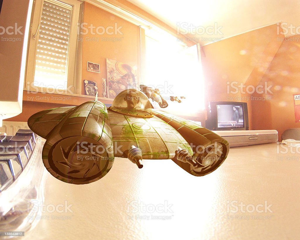 The Tiny Gelfling Invaders stock photo