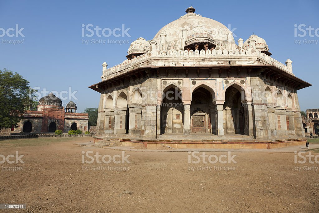 The Tomb And Mosque Of Isa Khan, Delhi, India stock photo