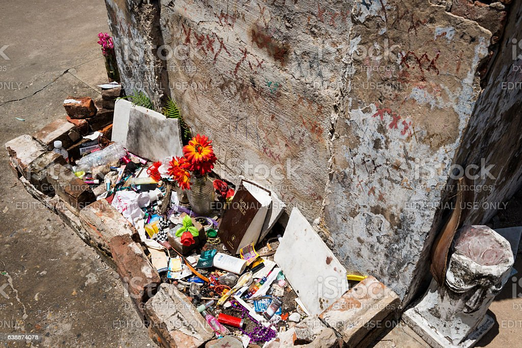 The tomb of Marie Laveau in New Orleans stock photo