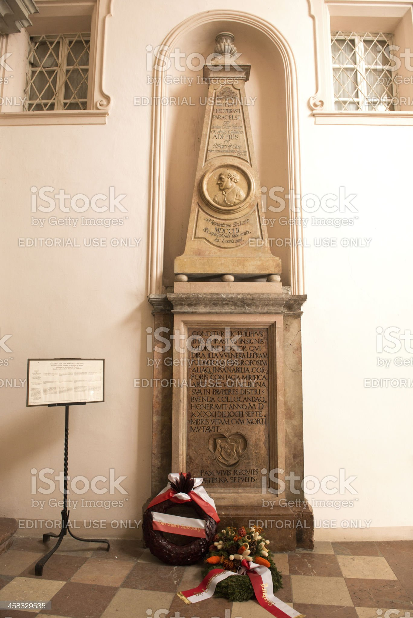 The tomb of Paracelsus royalty-free stock photo