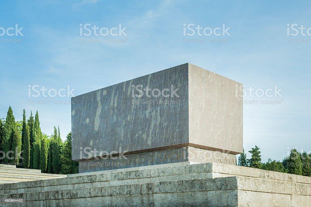 The tomb of Prince Emanuele Filiberto Di Savoia stock photo