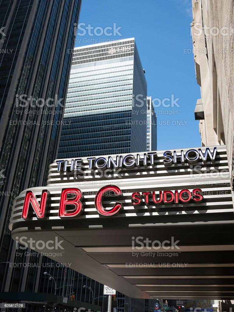 The Tonight Show Entrance at NBC Studios in Manhattan stock photo