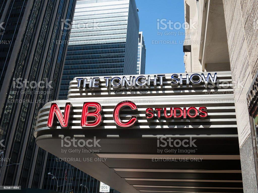 The Tonight Show NBC Studios Entrance stock photo