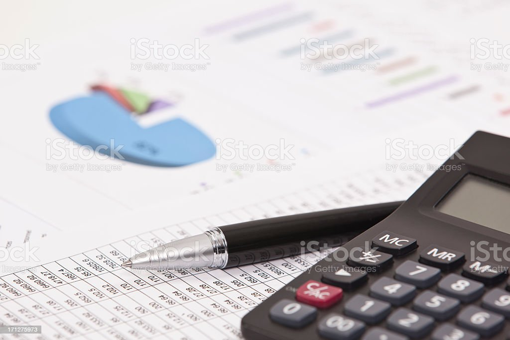 The tools for accounting and financial analysis  stock photo