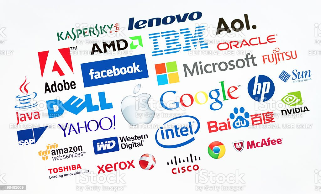 The top computer companies in the world stock photo
