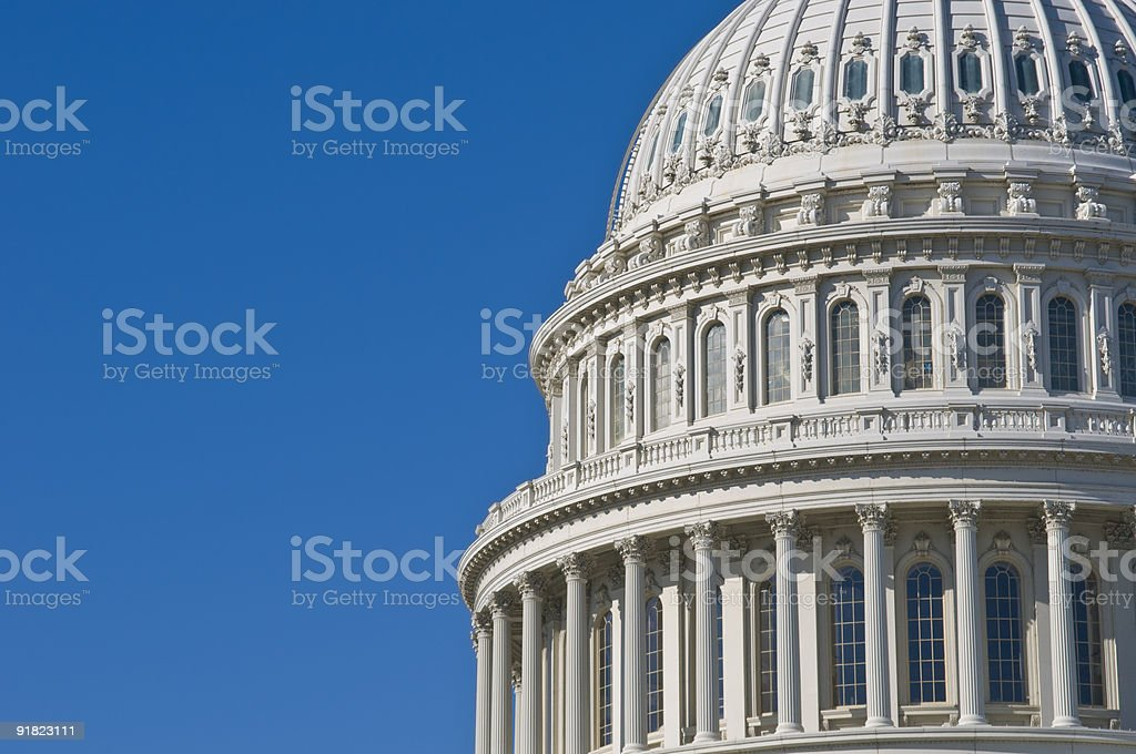The top half of the United States Capitol building royalty-free stock photo