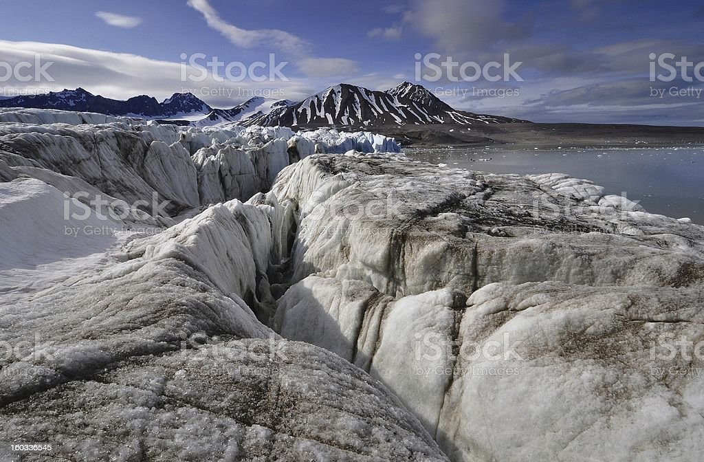 The top of a glacier royalty-free stock photo