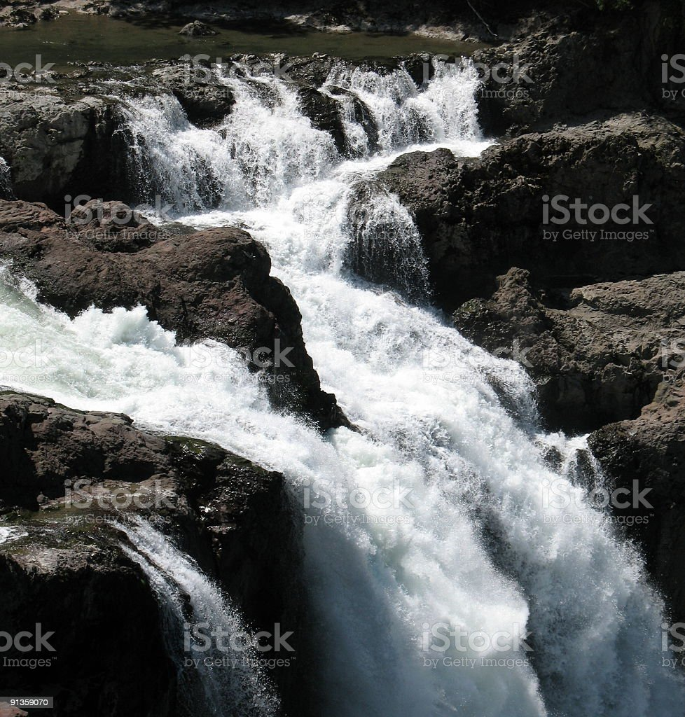 The top of a waterfall stock photo