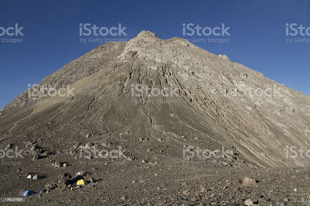 The top of Merapi Volcano, Indonesia. royalty-free stock photo