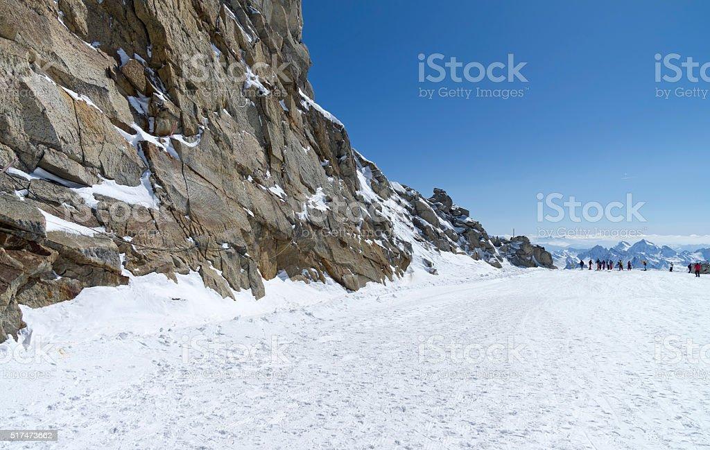 The top of the Hintertux glacier in the Austrian Alps stock photo