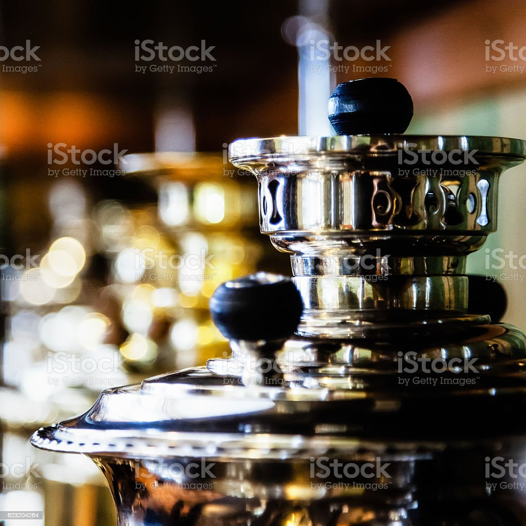 The top of the samovar stock photo